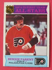 1975-76 OPC O-Pee-Chee Bernie Parent # 291, Philadelphia Flyers, 1st Team, ExMt