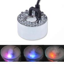LED Mist Maker Fogger Water Fountain Fog Machine Air Humidifier - 6 or 12 LED's
