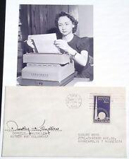 Dorothy Kilgallen Journalist & T.V Panelist Autograph ''Rare'' Died At Age 52 ..