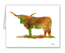 Longhorn Cow Note Cards With Envelopes