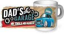 KOOLART Dad's Garage My Tools My Rules CERAMIC MUG & Mk1 Ford Escort Mexico pic.