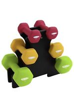 ACTIVE FOREVER 3 Pair Hex Dumbbells With Stand,
