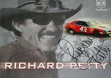 Richard Petty original signé promocard Photo NASCAR légendaire Pilote Portrait
