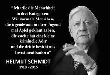 Helmut Schmidt Spruch 6 Blechschild Schild gewölbt Tin Sign 20 x 30 cm FA1188