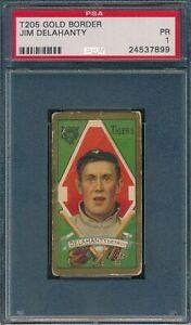 1911 T205 Jim Delahanty Piedmont PSA 1 *OBGcards*