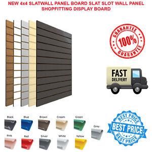 NEW 4x4 SLATWALL PANELS SHOPFITTING DISPLAY  PACK OF 10 BOARDS (inlc 10 Inserts)