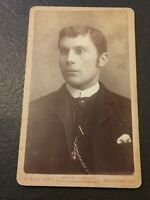 Vintage Cabinet Photo Card, Small A. Squibb's Bridgwater London Photograph CC7