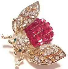 High End Vintage Estate Rhinestone FLY BUG INSECT Brooch PIN Jewelry LOT A