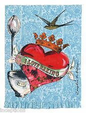Julia Junkin Design for PHI Cotton Kitchen Tea Towel I Love Baking - NEW