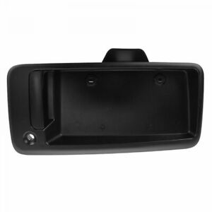 Door Handle Black Textured w/ Plate Housing Exterior Rear RH Right for Chevy GMC