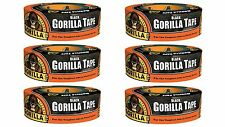 "Gorilla 6035062 Duct Tape (6 Pack), 1.88"" x 35 yd, Black"