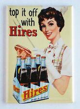 Hires Root Beer FRIDGE MAGNET (2 x 3 inches) soda sign cola bottle label
