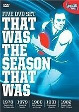 AFL Seasons: 1978, 1979, 1980, 1981, 1982 (DVD, 5-Disc Set, New & Sealed) gf3