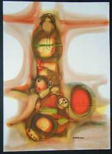 "Hargreaves Ntukwana ""Woman w/Baby & Jug In Sunset"" Watercolor- (Soweto)"