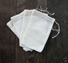 100 4x6 inch Cotton Muslin Drawstring Bags By Celestial Gifts The Original Mill