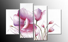 "Fiore Rosa Floreale Tela dipinto wall art SPLIT Multi 4 PANNELLO Rdy 2 Hang 40"""