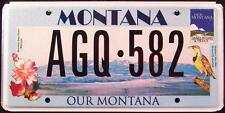 """MONTANA """"  OUR MONTANA - STATE BIRD FLOWER """" MT Specialty License Plate"""