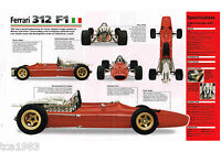 1966/1967/1968/1969 FERRARI 312 F1 Formula one F-1 Race Car Brochure