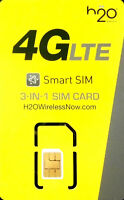 H2O Triple SIM Card PLUS Prefunded $60 plan 30GB 4g Data + HotSpot Feature  H20