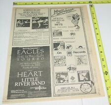 The Eagles Heart Concert Ad Advert 1980 Tour Giants Stadium Meadowlands Nj