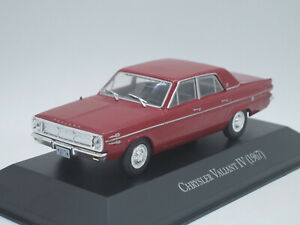 Plymouth Chrysler Valiant IV 4 1967 red 1/43 IXO Unforgettable Cars Argentina
