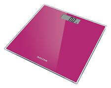 Salter Digital Báscula de Baño Vidrio Templado peso electrónico escala Rosa 180kg