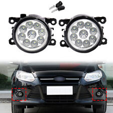 Pair 55W 9 LED Fog Light Lamp for Ford Explorer Focus Fusion Mustang 4F9Z15200AA