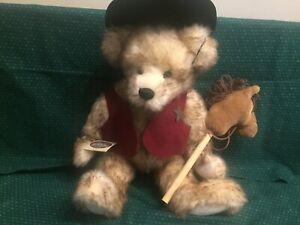 "Ganz Cottage Collectibles Sherriff Mohair Teddy Bear CC1436  1999  18"""