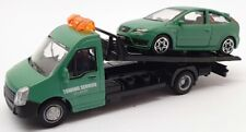 Burago 1/43 Scale #18 31400 - Ford Focus Car And Generic Flatbed Truck
