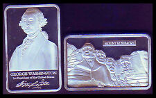 ★★★★★ JOLI MEDAILLE PLAQUEE ARGENT ● USA ● MT RUSHMORE PRESIDENT WASHINGTON ★★★★