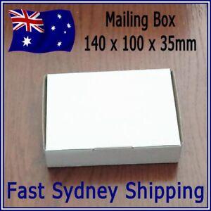 NEW - 140x100x35mm White Mailing Box Carton 200gsm Strong Cardboard DIECUT