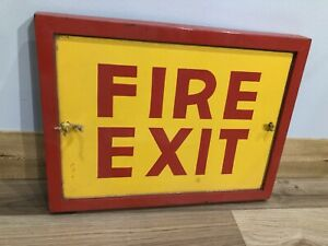 "Vintage ""Fire Exit"" Factory Hand Painted Sign"