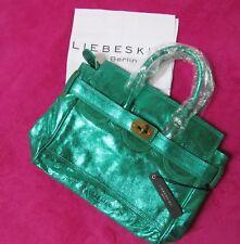 NEU Liebeskind Berlin® Handtasche Modell Gloria msuede in sea green metallic
