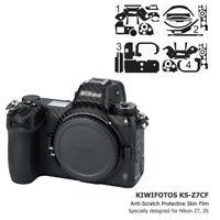 KIWIFOTOS Anti-Scratch 3M Camera Body Skin Protector Film Cover for Nikon Z7 Z6