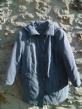 manteau parka gris bleu 46