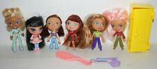 "Rare vintage 2003 Hasbro 3.5"" bratz dolls Lot of 6 dolls accessories locker"