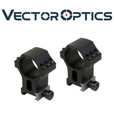 Vector Optics 30mm Precise Scope 1.5 in High Picatinny Mount Ring High 6 Bolts