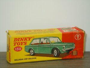 Original Empty Dinky Toys Box - Hillman IMP Saloon - 138 England *43130