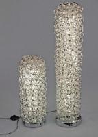 formano LED Lampe Zylinder 20x60 cm aus geflochtenem Aluminium 660817
