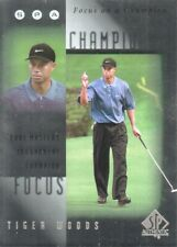2001 SP Authentic Golf Trading Cards Focus on a Champion #FC9 Tiger Woods