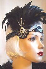 Chapeau Jules Vintage 20's Flapper Feather Headband Headpiece Speakeasy Gatsby