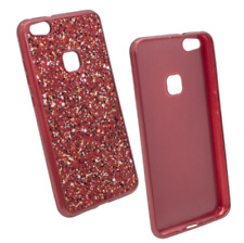 "^ Apple iPhone 7 4,7"" ROT Schutz Glitzer Glitter Bling Schimmernd Cover Case"