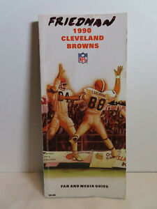 1990 Cleveland Browns Press Book / Media Guide with Kosar Newsome Minnifield