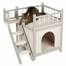 Casa Gato Perro den al aire libre perrera interior exterior de madera refugio para mascotas 3 Cubierta fuerte