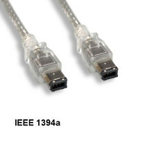 Kentek 3' IEEE-1394A 6 Pin Male to Male Firewire 400 Mbps iLINK DV Cable PC CLR