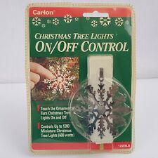 Carlon-Christmas Tree-Turn Lights On-Off Control-Silver Snowflake-Back Saver-NEW