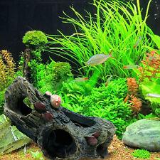 Aquarium Decoration Trunk Bole Driftwood Cave for Fish Tank Resin Ornament