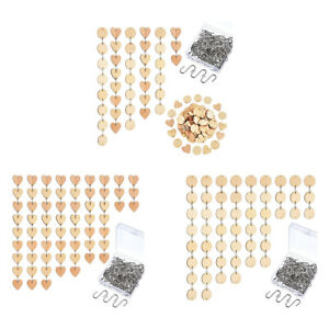 120 x DIY Wood Chips Plaque Home Decoration Teaching Supplies Slice Craft