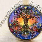 Chakra, Tree of Life Pendant Necklace, Bronze or Silver, Spiritual Gift Idea