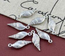6 Metallperlen Schnecke Muschel 24mm Perlen Spacer nenad-design AN340